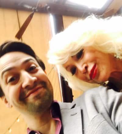 Selfie with Lin Manuel Miranda